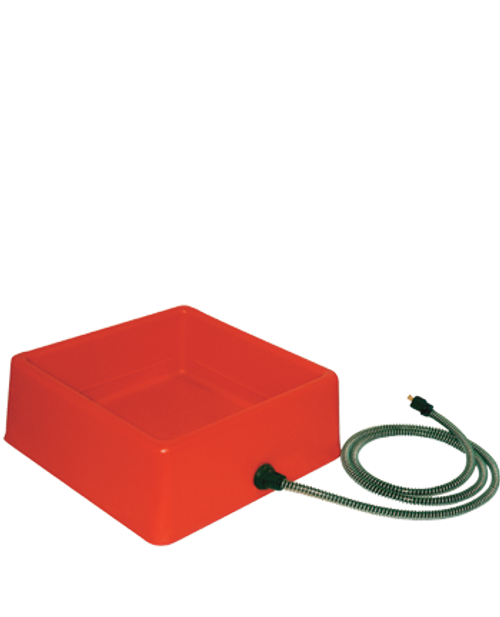Square Heated Bowl, Red