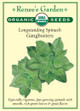 Renee's Garden 'Gangbusters' Longstanding Spinach Organic Seed