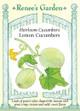 Renee's Garden ' Lemon Cucumbers' Heirloom Cucumber Seed
