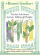 Renee's Garden 'Green, Yellow & Purple' Tricolor Pole Beans Seed