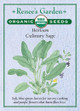 Renee's Garden 'Culinary Sage' Heirloom Organic Seed