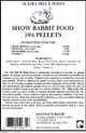 Rabbit 18% Show Ration, 50lb