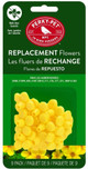 Perky Pet Yellow Repalcement Flowers, 9pc