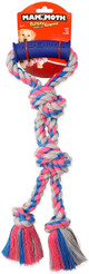 Mammoth Flossy Chew Twin Tug Rope With Handle, 16 inch
