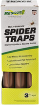 Rescue Spider Traps Ready to Use, Double-Sided, 3pk