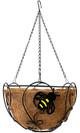 Panacea Bee-Conscious Hanging Basket, Black, 14 inch