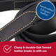 Circle T Oak Tanned Leather Dog Leash, 5/8in x 6ft