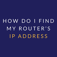 How do I find my router's IP address - Sabai Technology