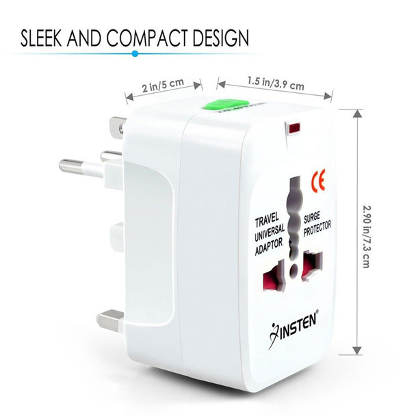 Travel Plug Adapter Dimensions