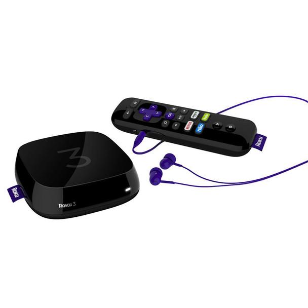 Roku 3 with Roku Remote and Headphones