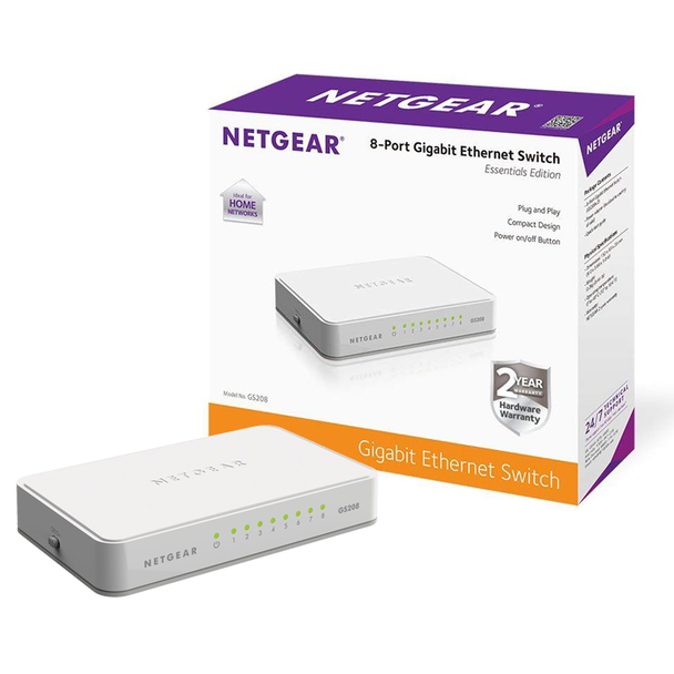 NETGEAR 8-Port Gigabit Ethernet Unmanaged Switch (GS208)