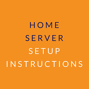 Home Server Setup Instructions