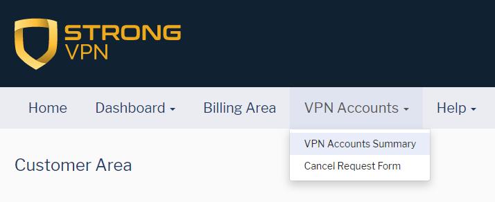 VPN Account Summary