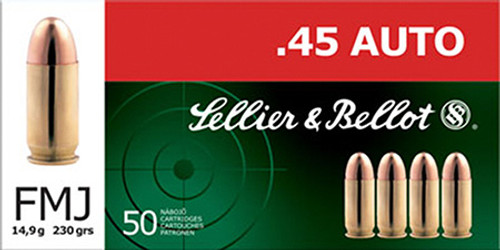 Small img:A3: Sellier & Bellot 45 ACP 230 GR FMJ