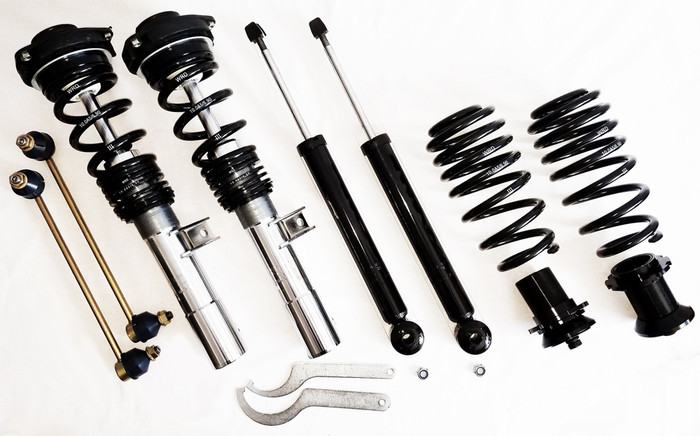 WRD ADVANTAGE STREET COILOVERS MK6 Jetta, WITH REAR BEAM, 55mm Front Strut ASSEMBLED