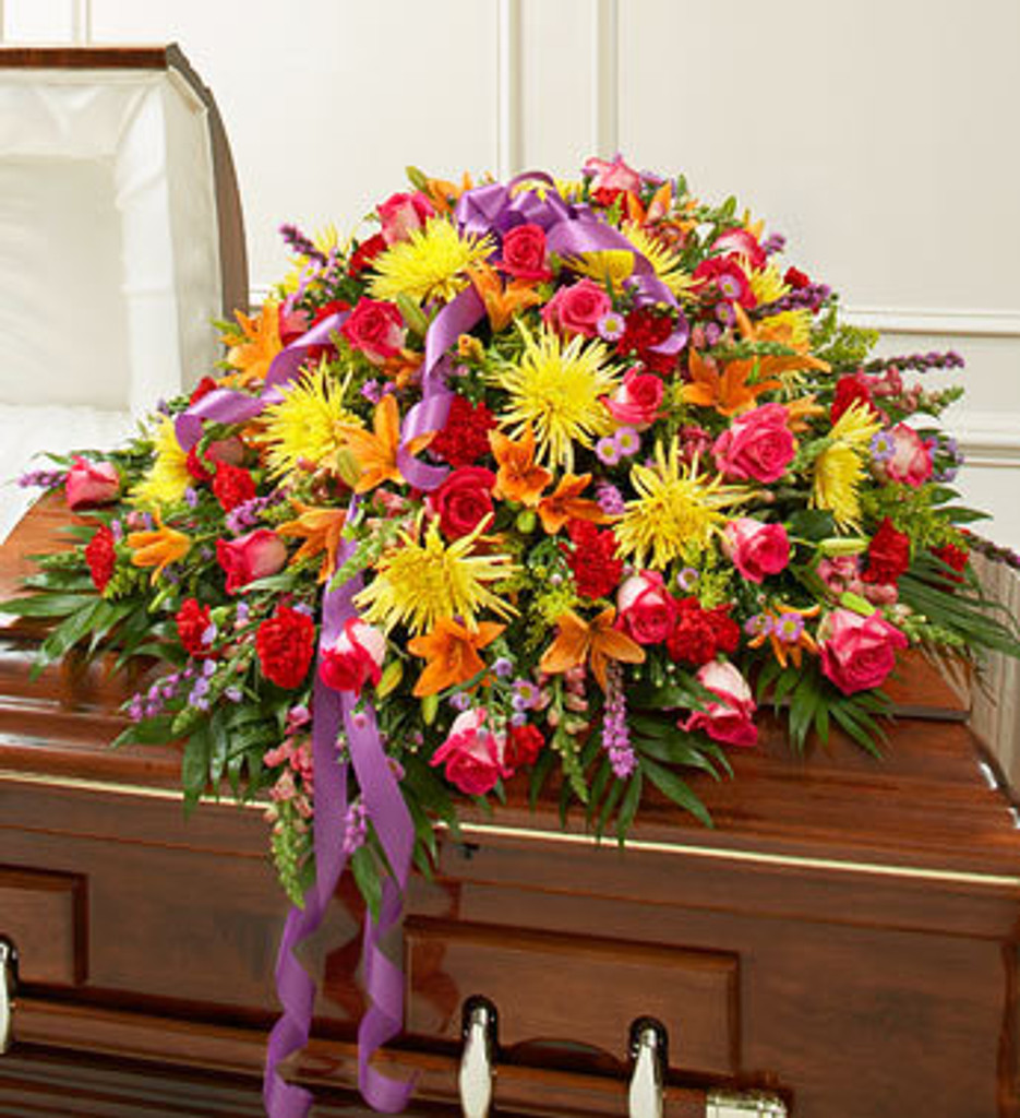 Cheerful Memories Casket Spray
