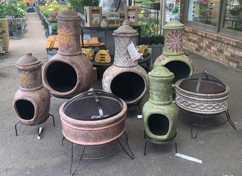 Fire Pit Natural Design with Stand and Lid