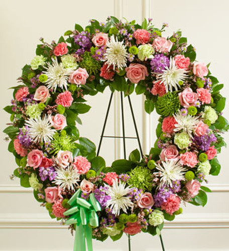 Pastel Memories Standing Wreath