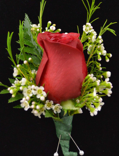 Rose and Wax Flower (only seasonally available)Please note babies breath will be used