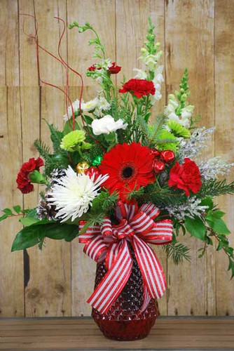 seasonal fresh flower arrangment