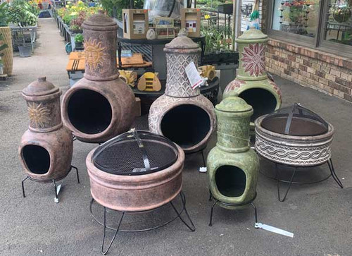 Native Music Style Chiminea with Stand and Lid