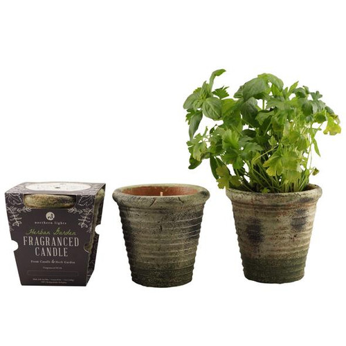 Herb Garden & Candles (set of 2 candles)