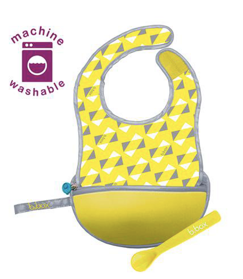 b.box Machine Washable Travel Bib with Pouch