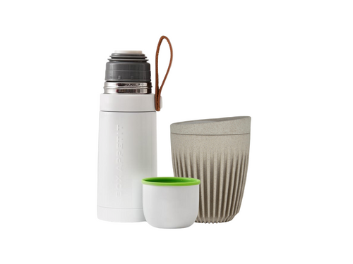 black & blum thermo flask and huskee cup