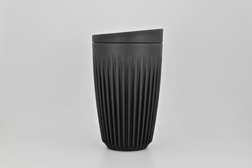 Huskeecup 12oz Charcoal with universal lid