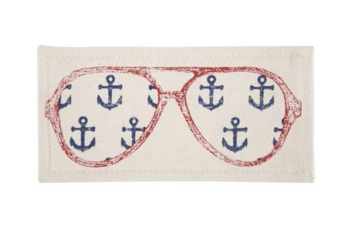 Captain Sunglass Case - Red