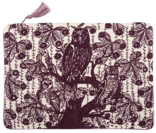 HOOT EMBROIDERED POUCH