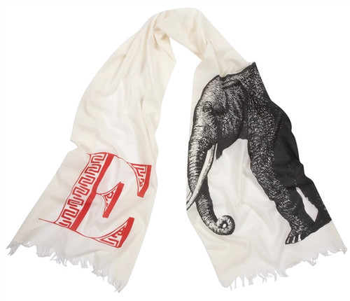 E ELEPHANT SCARF
