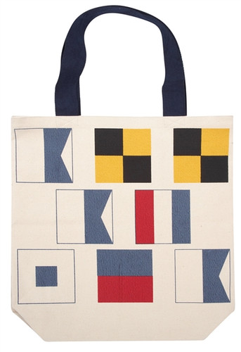 NAUTICAL FLAGS TOTE