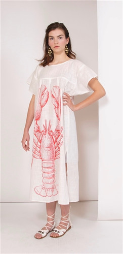 LOBSTER BEACH DRESS LARGE/XL