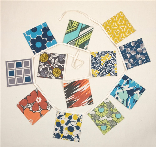 PATTERNED FABRIC BUNTING
