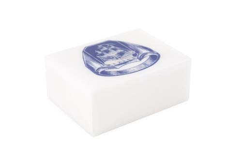 Alabaster Ship Ring Box - Cobalt