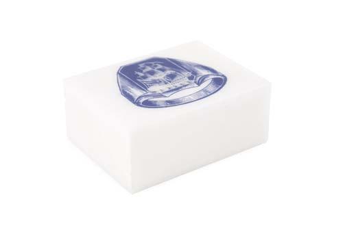 Alabaster Ship Ring Box - Cobalt