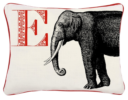 E ELEPHANT PILLOW