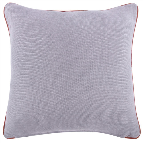 "LAVENDER/PLUM REVERSIBLE SOLID 22"" PILLOW"