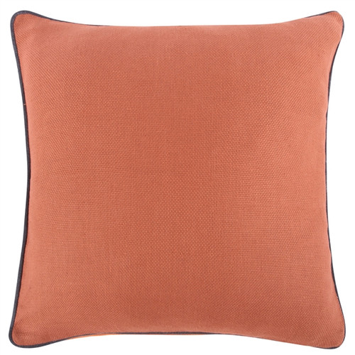 "GINGER ORANGE RUST REVERSIBLE SOLID 22"" PILLOW"