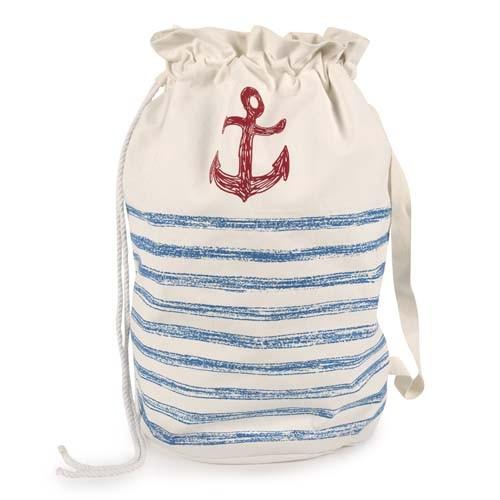 Anchor Sketch Duffle Laundry Bag - Cobalt