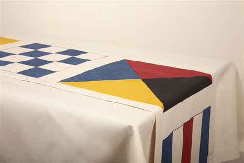 NAUTICAL FLAGS TABLE RUNNER