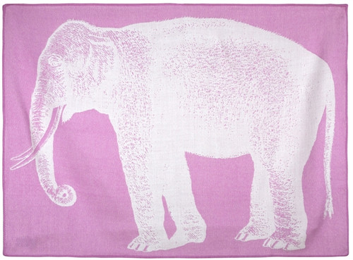 BABY ELEPHANT ALPACA THROW ORCHID