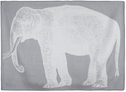 BABY ELEPHANT ALPACA THROW LT. GREY