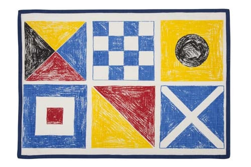 Flags Sketch Tea Towel - Multi