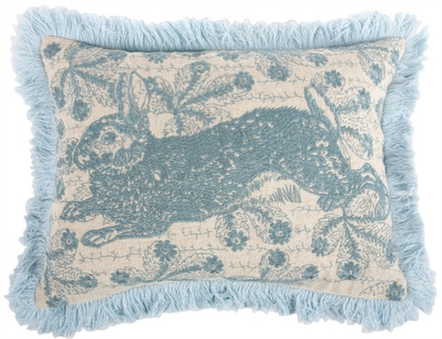 """BUNNY EMBROIDERED PILLOW 12""""X16"""" 1"""