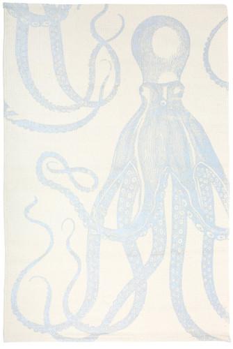 Octopus Silver Metallic Bath Mat