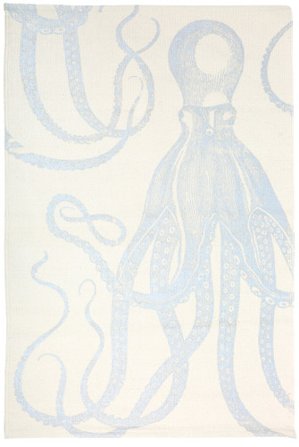Octopus Silver Metallic Bath Mat