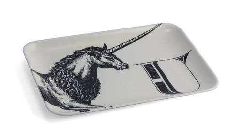 U Unicorn Alphabet Tray