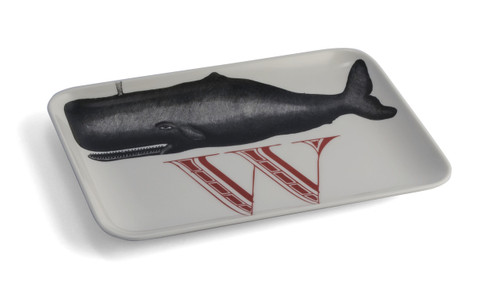 W Whale Alphabet Tray